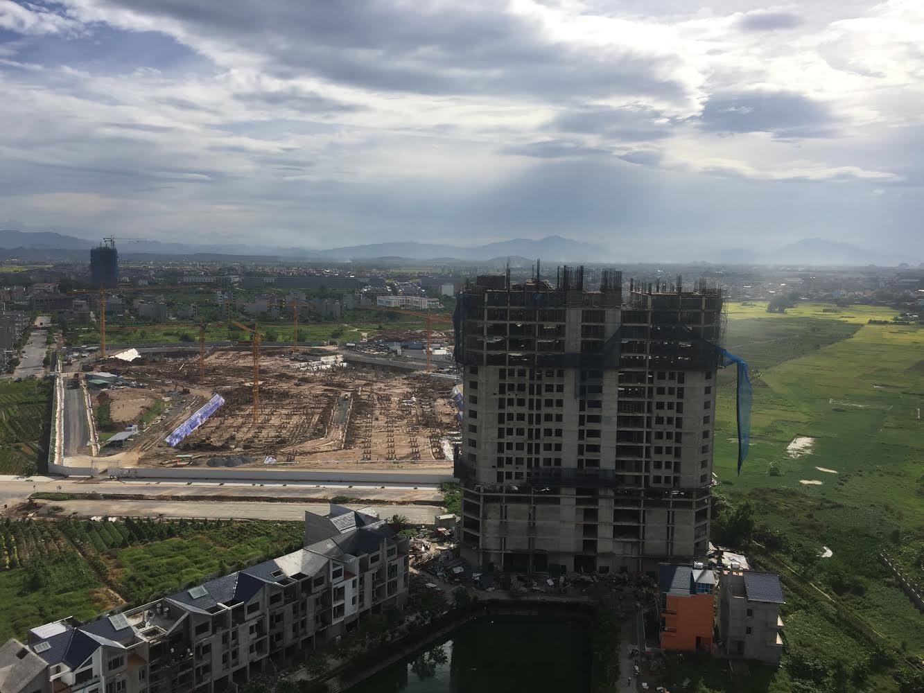 Hình ảnh HH1 và công trường xây dựng AEON MALL Hà Đông