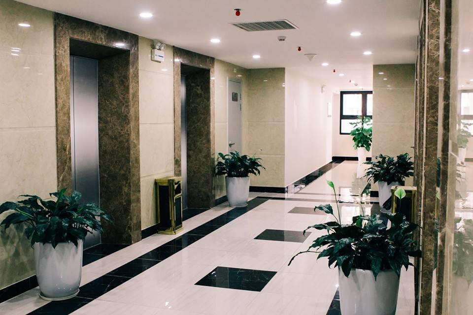 Sảnh thang máy tại chung cư An Bình City