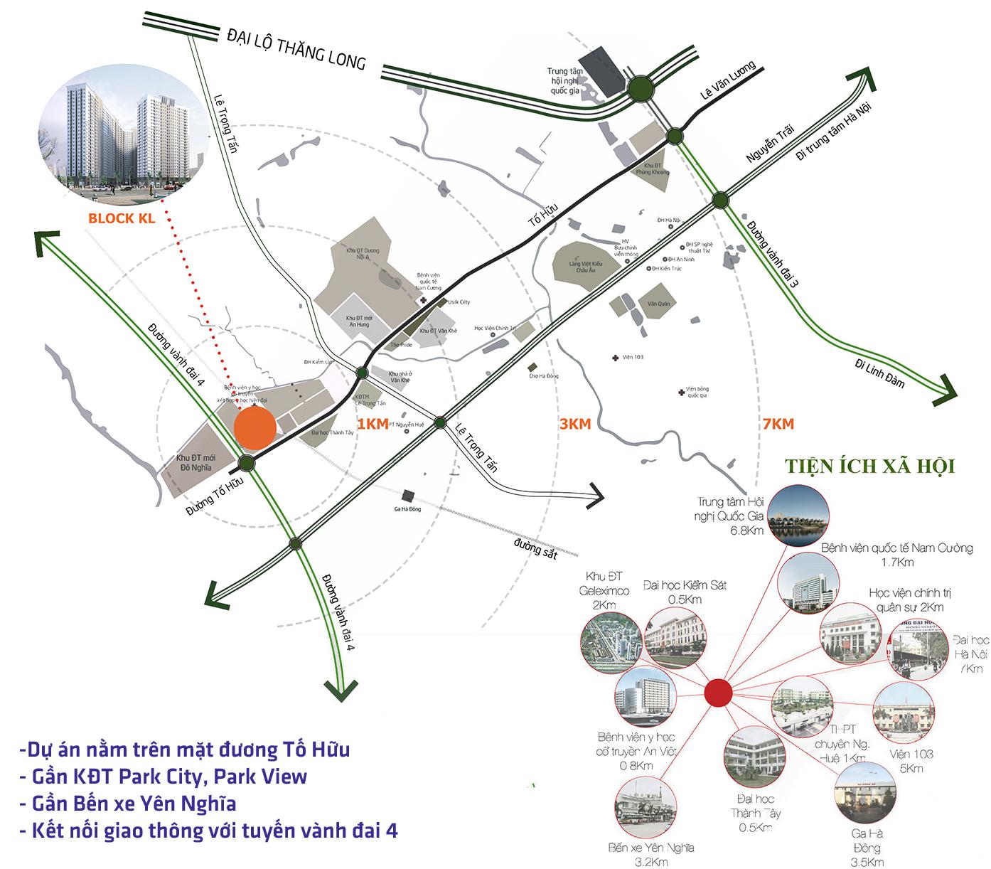 Vị trí dự án chung cư Xuân Mai Complex