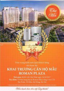 Khai trương nhà mẫu dự án Roman Plaza