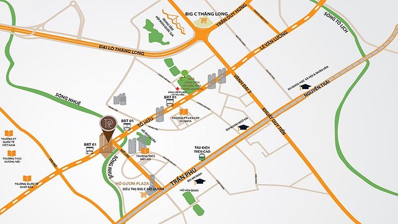 Vị trí dự án Roman Plaza
