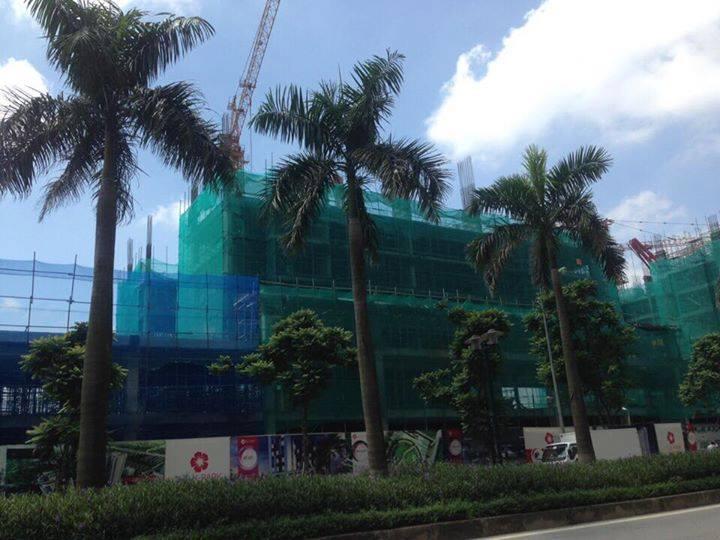 tòa k2 đang thi công đến tầng 7