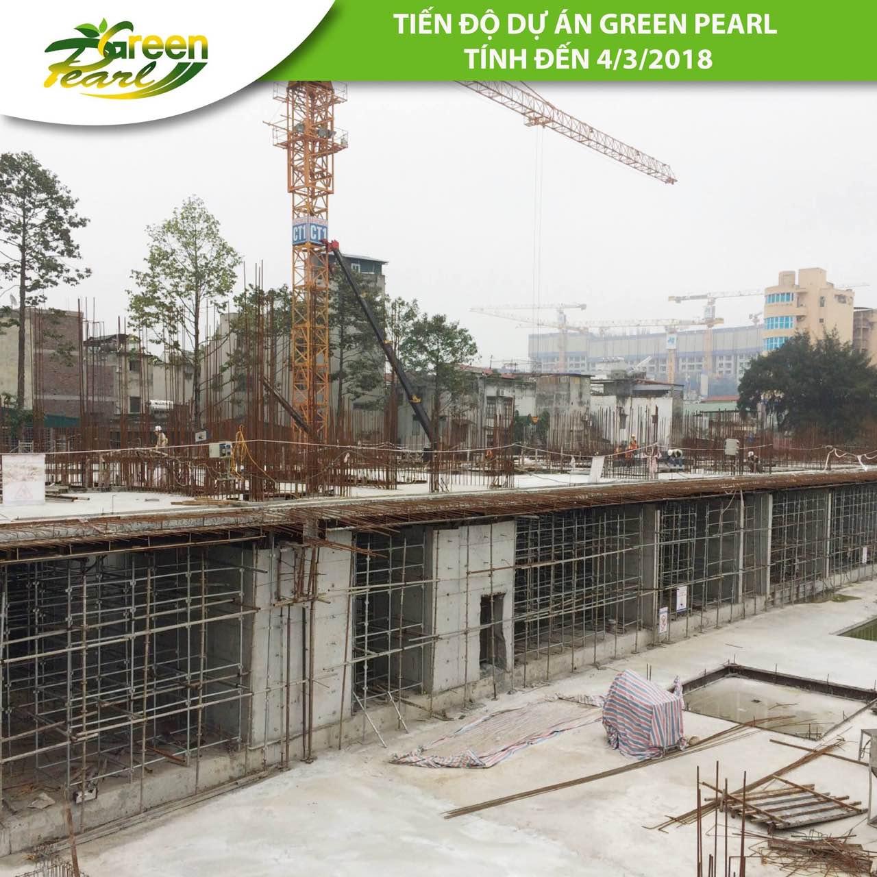 Tiến độ dự án Green Pearl 378 Minh Khai tháng 3 (2)