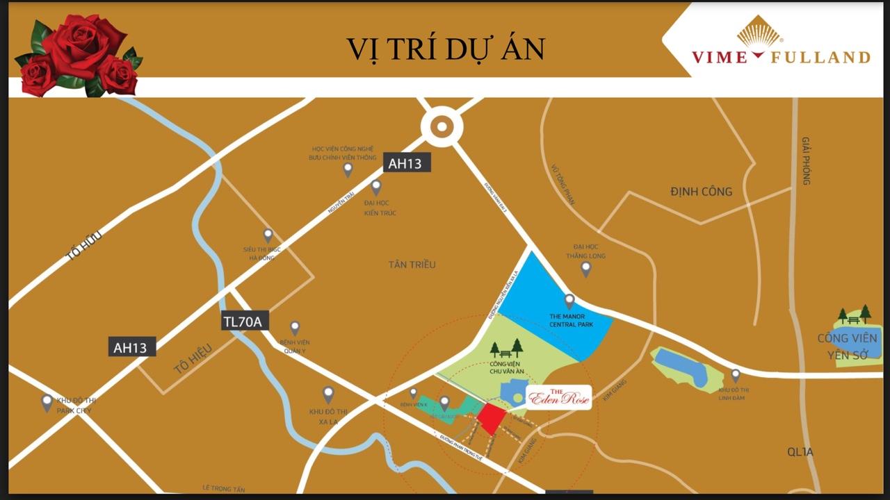 Vị trí dự án tại Thanh Liệt, Thanh Trì, Hà Nội
