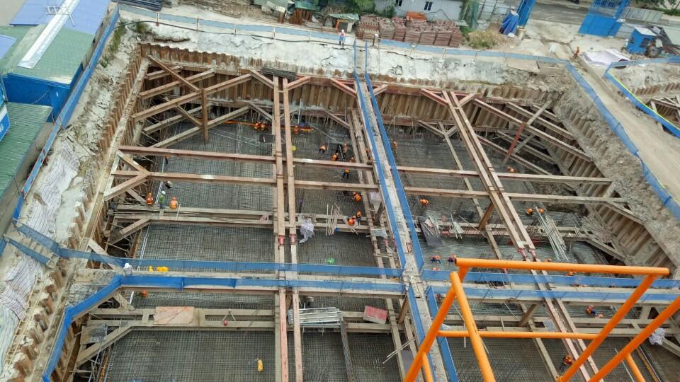 Tiến độ dự án chung cư Green Pearl 378 Minh Khai