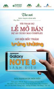 Xuân Mai Comlex bốc thăm điện thoại Samsung Galaxy Note 8 sành điệu