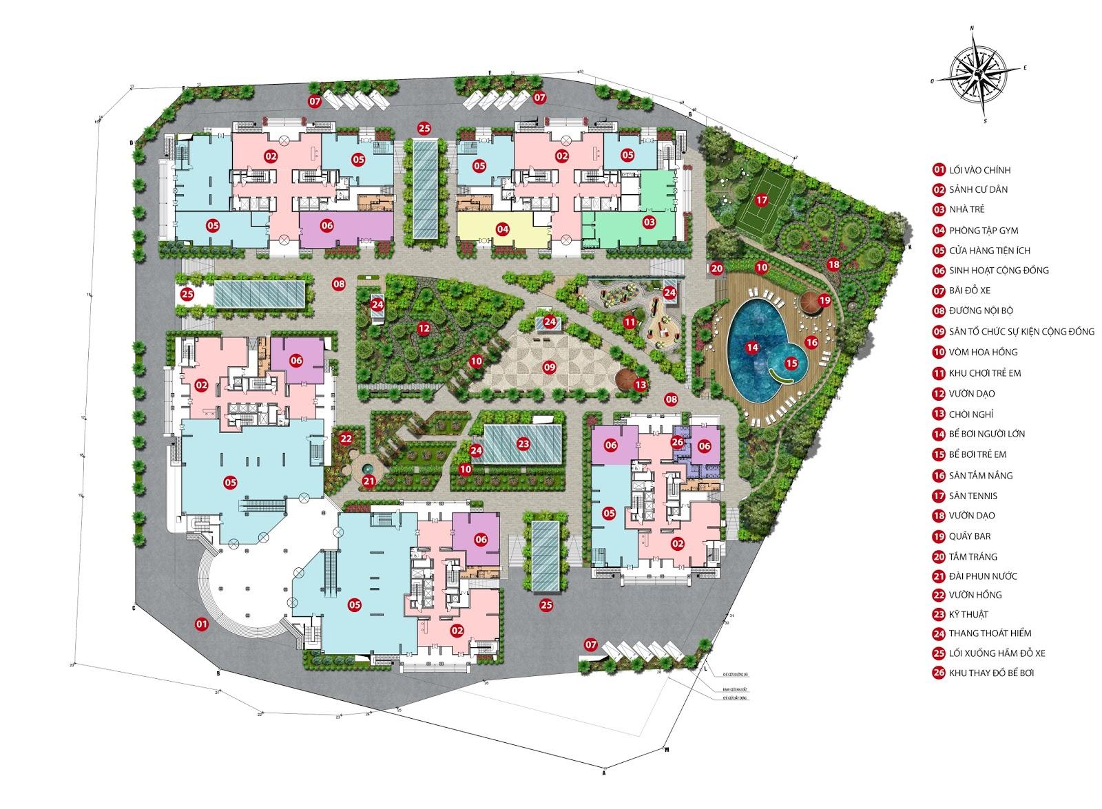 Mặt bằng tổng quan dự án chung cư Iris Garden