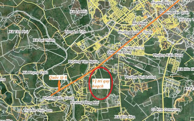 Vị trí dự án khu đô thị mới Đồng Mai