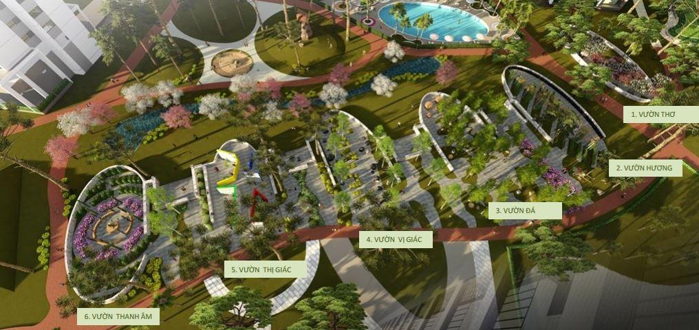 Công viên 6 giác quan tại dự án Hồng Hà Eco