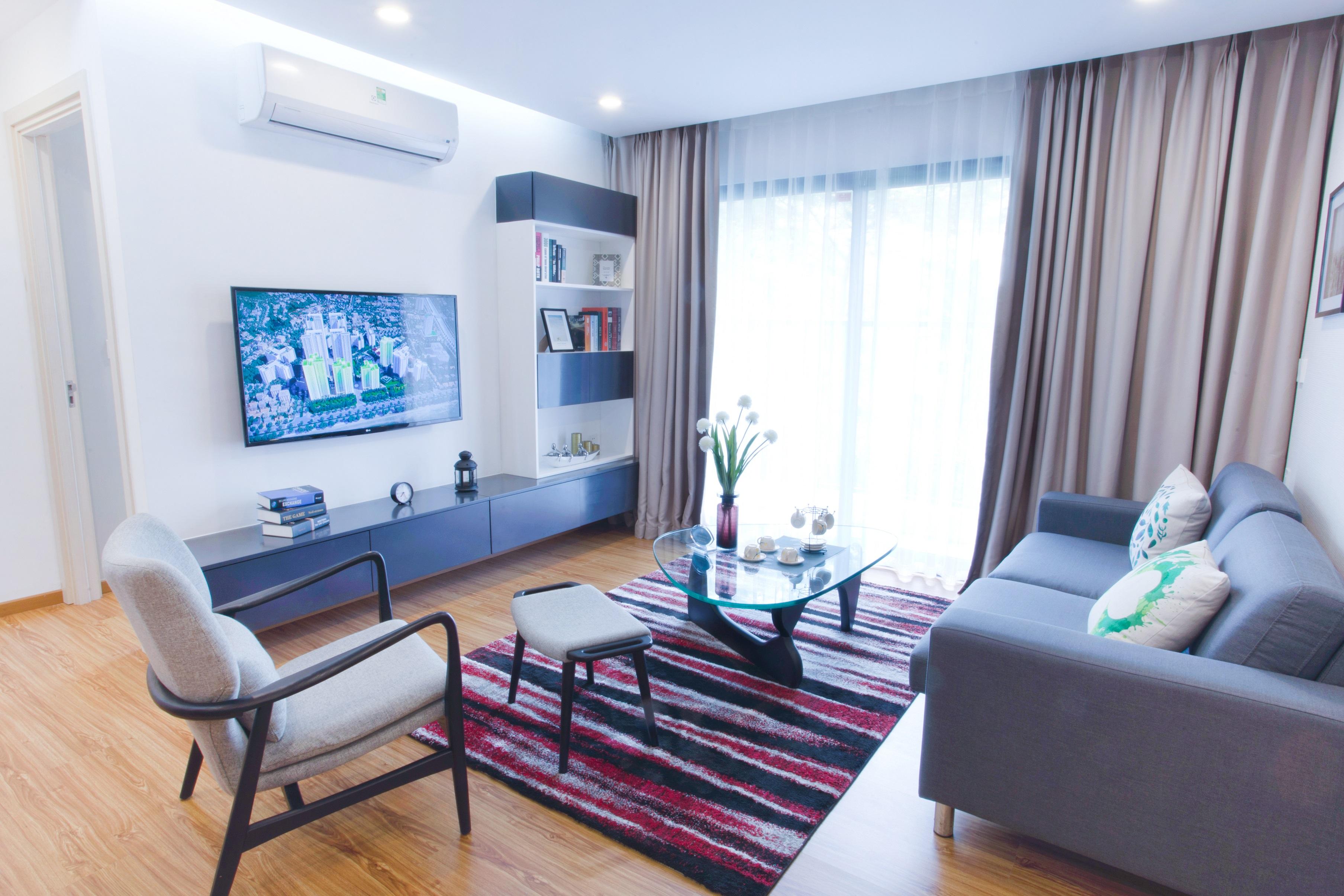 Căn hộ mẫu Hồng Hà Eco City được thiết kế theo phong cách hiện đại, đơn giản
