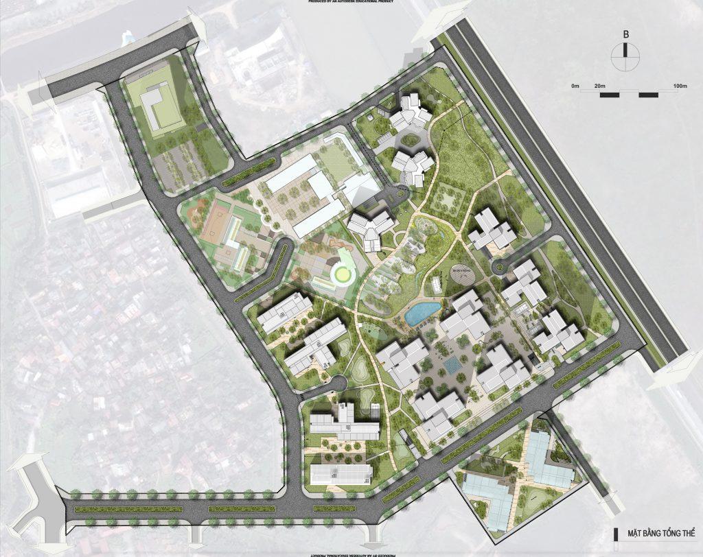 Mặt bằng tổng thể dự án Hồng Hà Eco City