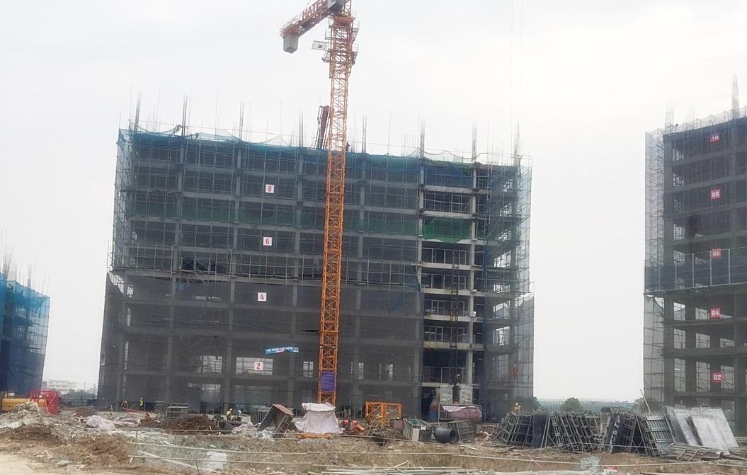 Thi công tầng 10 tòa CT1B