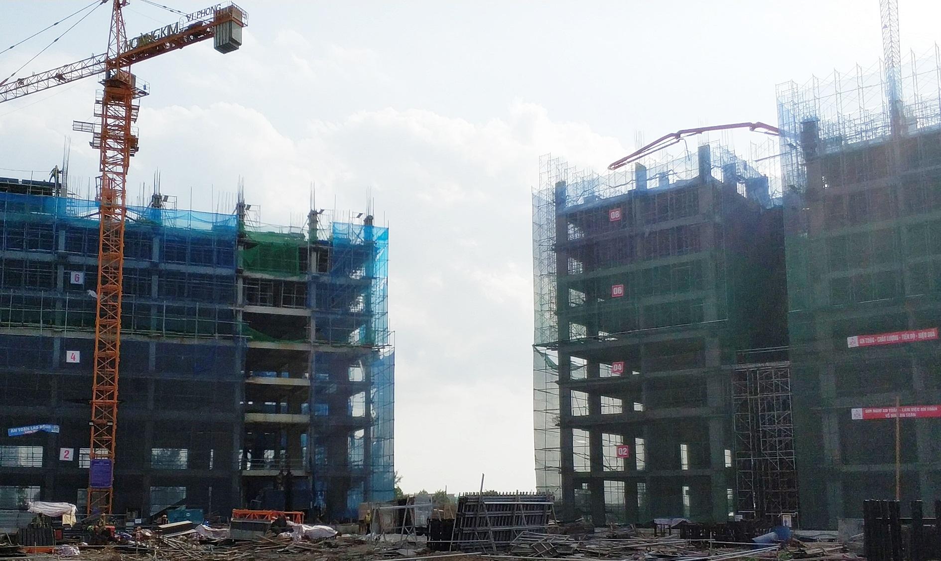 Thi công tầng 8 tòa CT1B