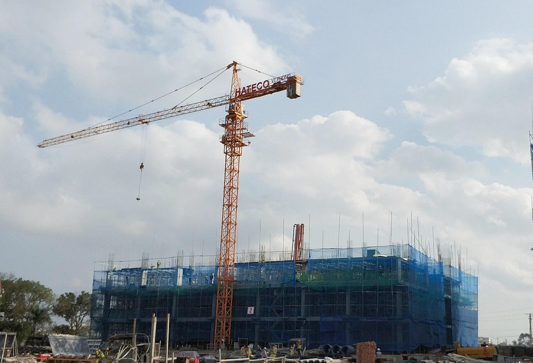 Tiến độ xây dựng Hateco Apollo tháng 01-2018