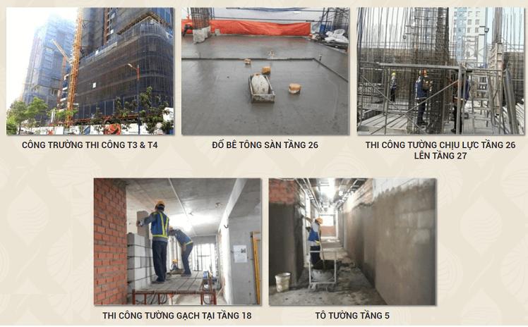 Tiến độ dự án Estella Heights tháng 02/2018