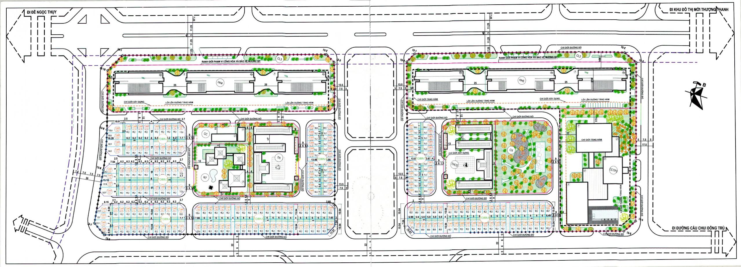 Mặt bằng tổng thể dự án Khai Sơn Tower Long Biên