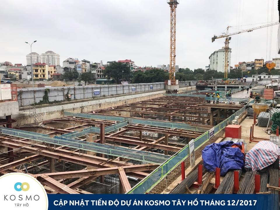 Cập nhật tiến độ dự án Kosmo Tây Hồ tháng 12-2017