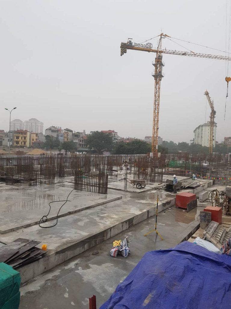 Dự kiến tháng 4 sẽ hoàn thành phần khối đế, thi công phần thân tất cả các tòa