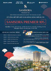 Lễ công bố tiến độ và ra bảng hàng mới tại dự án Samsora Premier 105