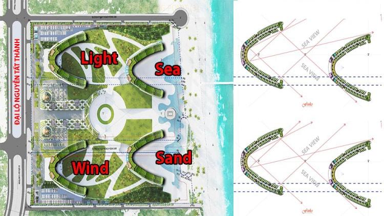 Arena Cam Ranh bao gồm 4 phân khu: Sea, Sand, Light, Wind
