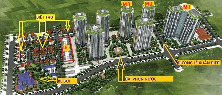 Mặt bằng toàn bộ dự án Mipec City View Kiến Hưng