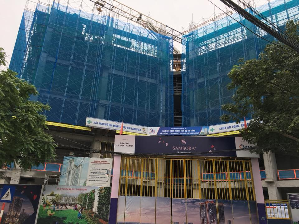 Tiến độ dự án Samsora Premier 105 Chu Văn An ngày 15-04-2018