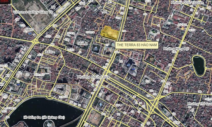 Vị trí dự án The Terra tại số 83 Hào Nam
