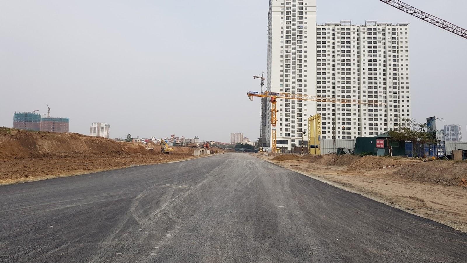 Đoạn đường 600m với mặt cắt ngang 40m trước mặt dự án kết nối từ Võ Chí Công