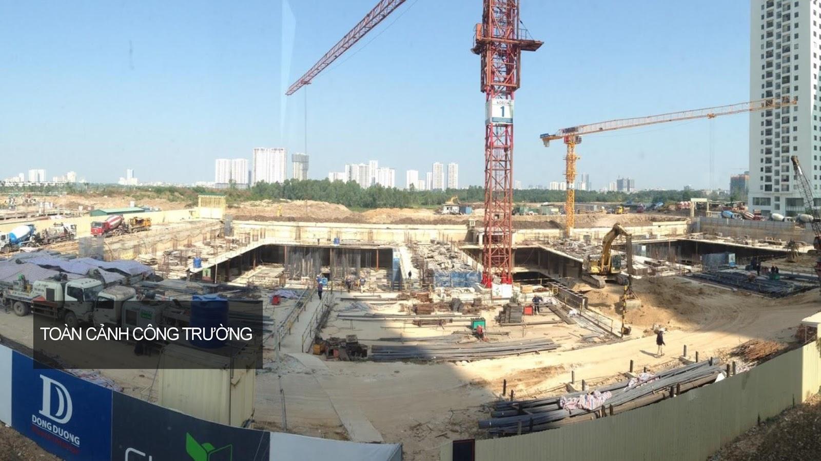 Toàn cảnh công trường thi công dự án 6th Element