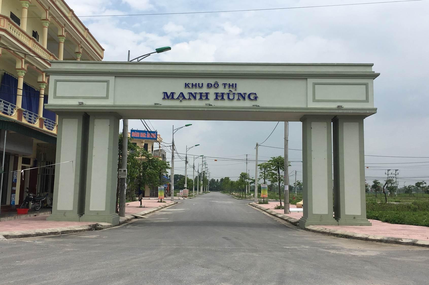 Cổng khu đô thị Mạnh Hùng Hà Nam