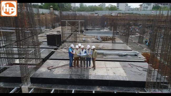 Dự án đã hoàn thành kết cấu đài móng ,giằng móng và sàn tầng hầm 2 – khối cao tầng B2