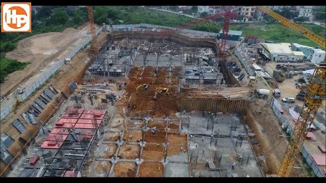Dự án đang trong quá trình hoàn thiện một phần cột vách dầm sàn hầm – tầng B1