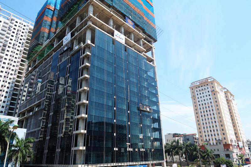 Dự án Sunshine Center đang thi công lên đến tầng 29, chuẩn bị lên tầng 30
