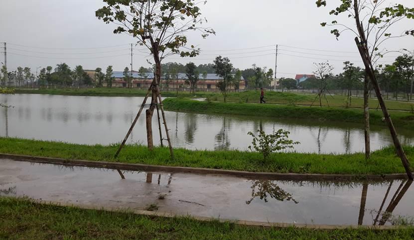 Hồ sinh thái tại Khu đô thị Mạnh Hùng