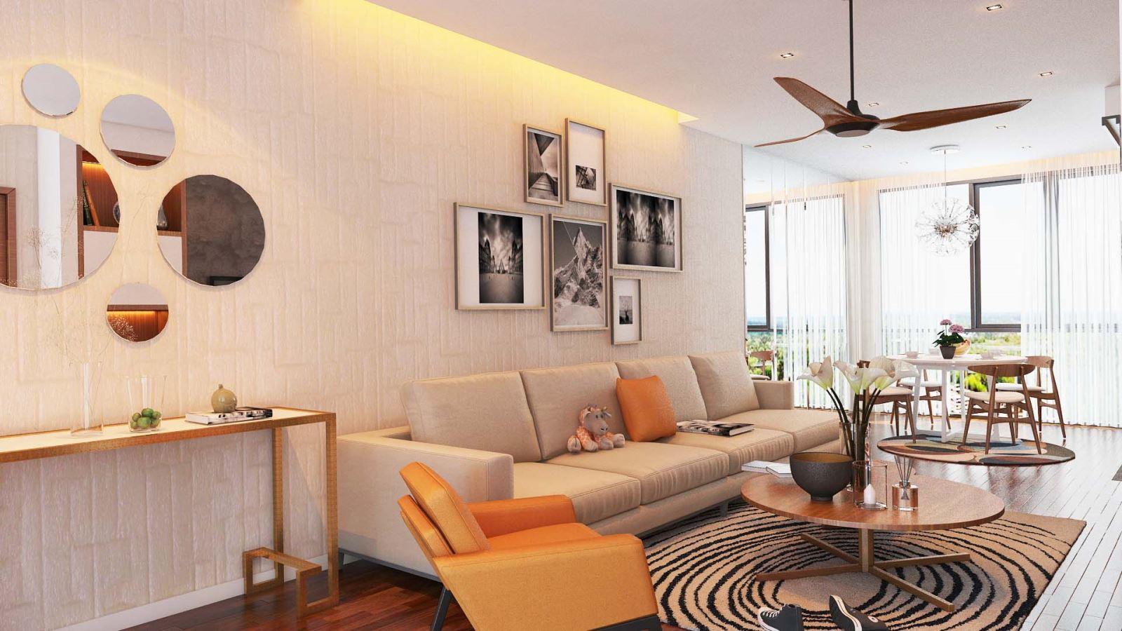 Phòng khách theo phong cách Nhiệt đới