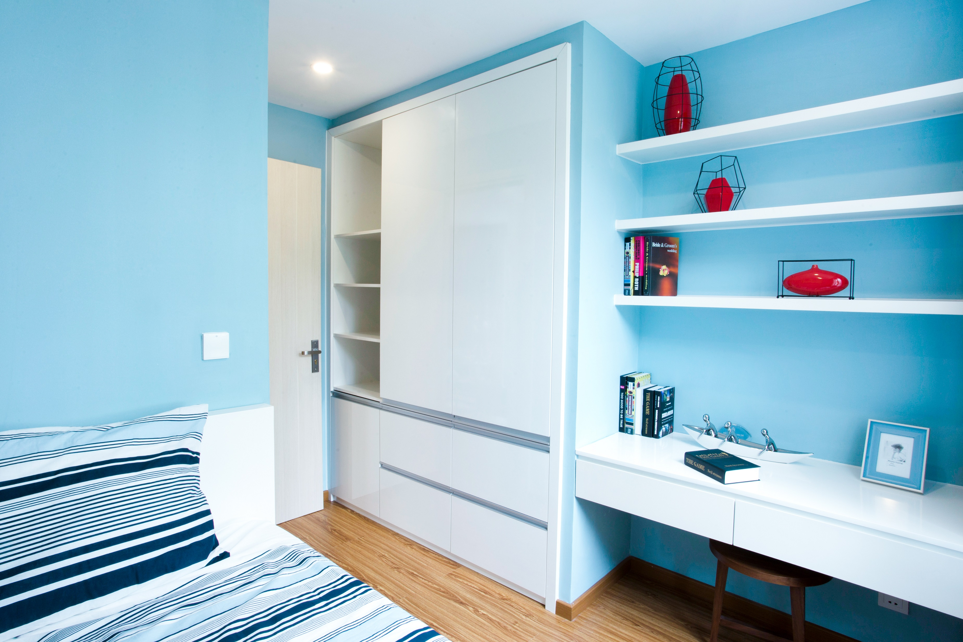 Phòng ngủ số 2 dành cho các bé, được thiết kế hết sức gọn gàng và dễ thương