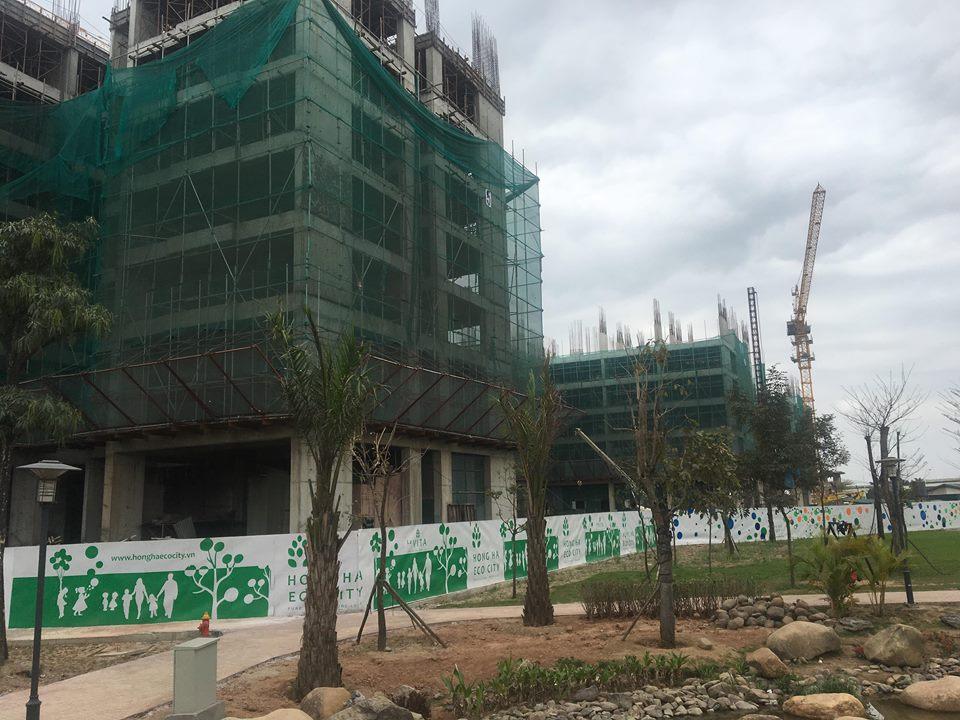 Tiến độ 3 tòa CT11 - CT12 - CT13 dự án Hồng Hà Eco City