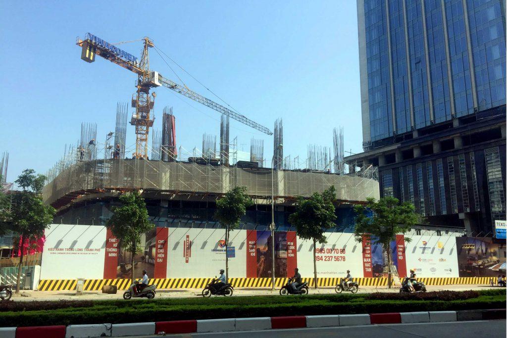 Tiến độ dự án Manhatan Tower tại số 21 Lê Văn Lương