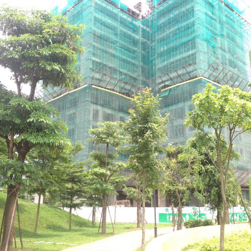 Tiến độ tòa Sakura 1 Hồng Hà Eco City