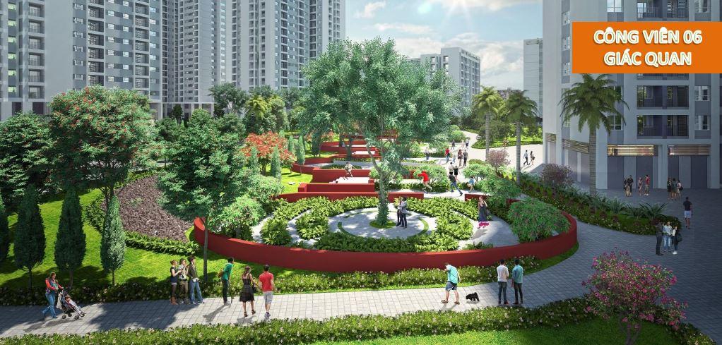 Công viên 6 giác quan được thiết kế theo các chủ đề: Thơ – Hương – Đá – Vị giác – Thị giác – Âm thanh đánh thức mọi giác quan của con người, mang lại sự thư giãn tối đa.