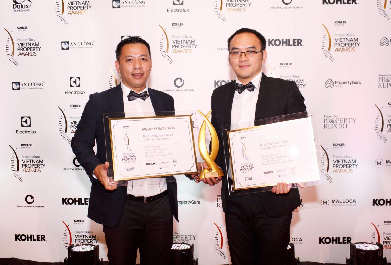 Dự án Green Pearl 378 Minh Khai đạt 2 giải thưởng bất động sản danh giá