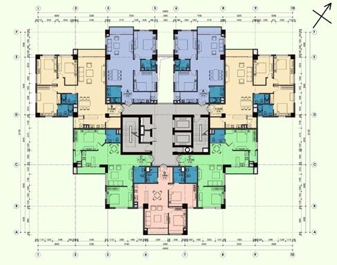 Mặt bằng căn hộ tại chung cư An Lạc