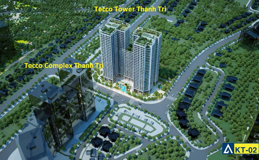 Phối cảnh dự án Tecco Skyville Tower và Tecco Complex Thanh Trì