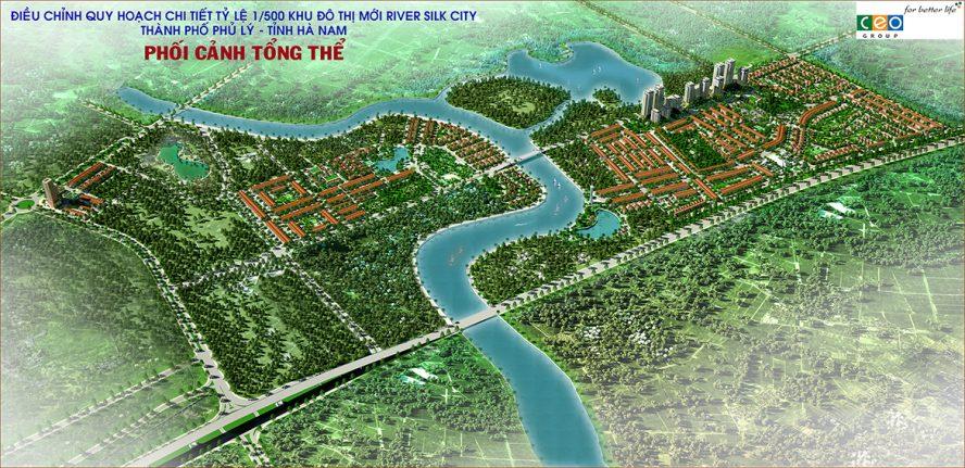 Phối cảnh tổng thể dự án River Silk City Hà Nam