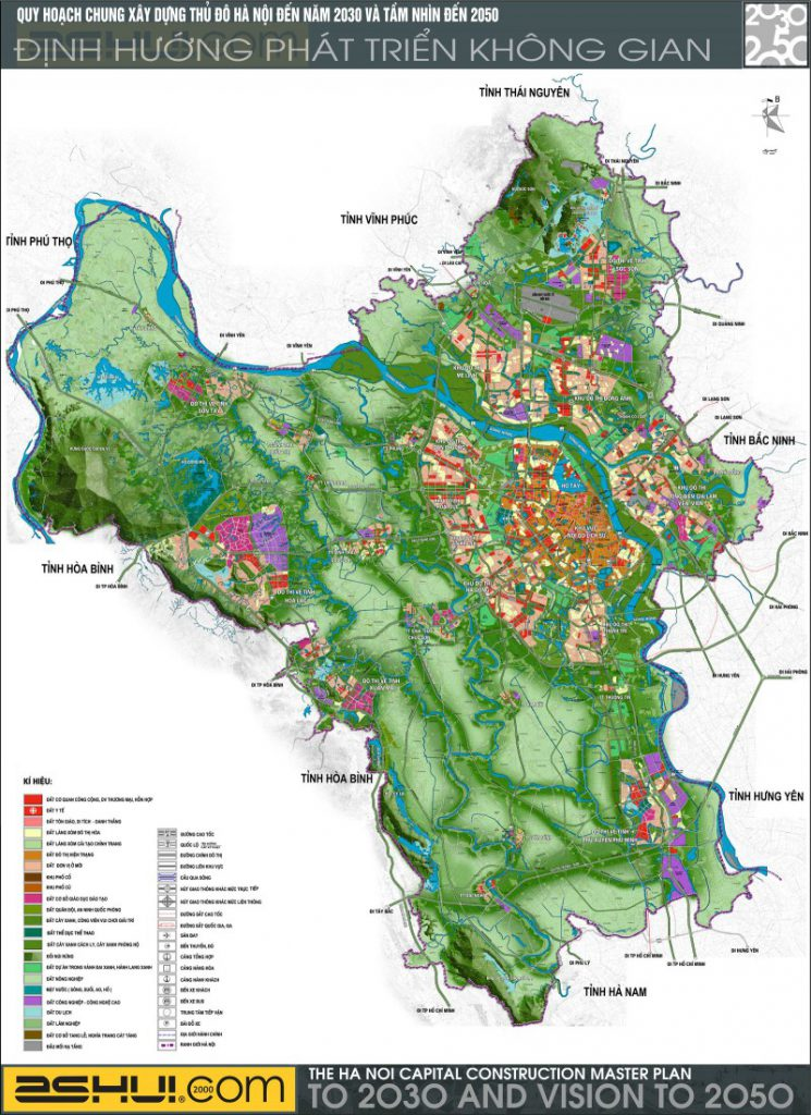 Quy hoạch chung xây dựng thủ đô Hà Nội tầm nhìn 2030 - 2050