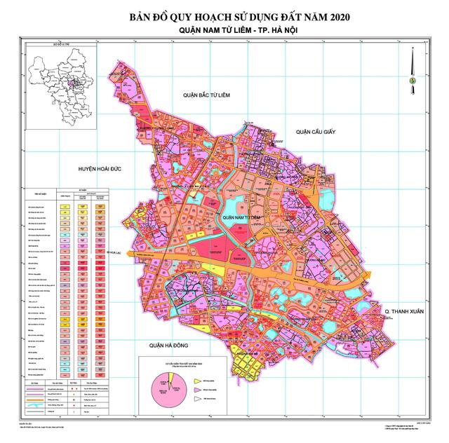 Quy hoạch quận Nam Từ Liêm 2020