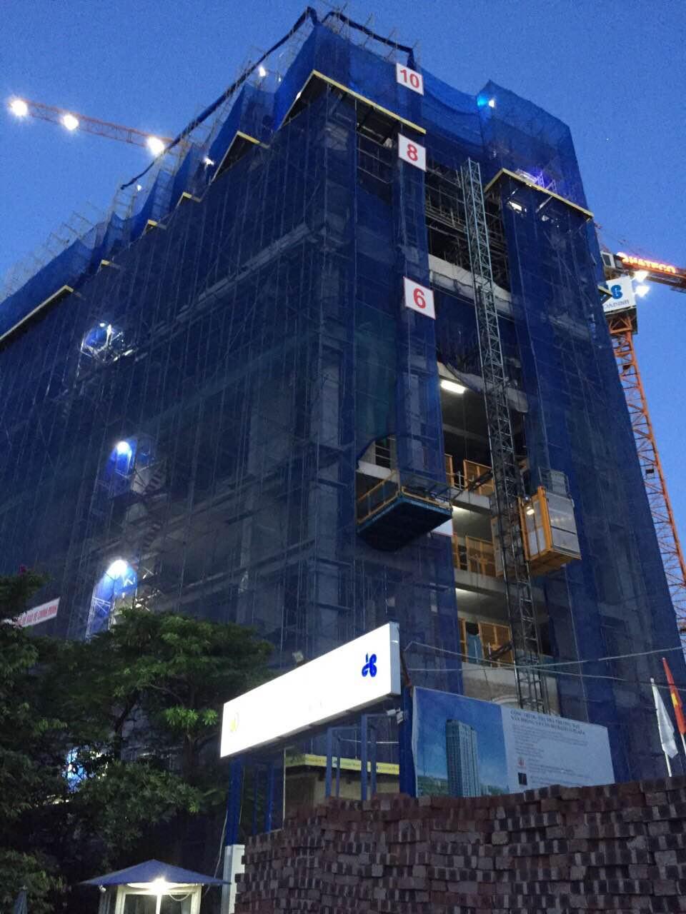 Tiến độ dự án Hateco Laroma đang thi công đến tầng 10