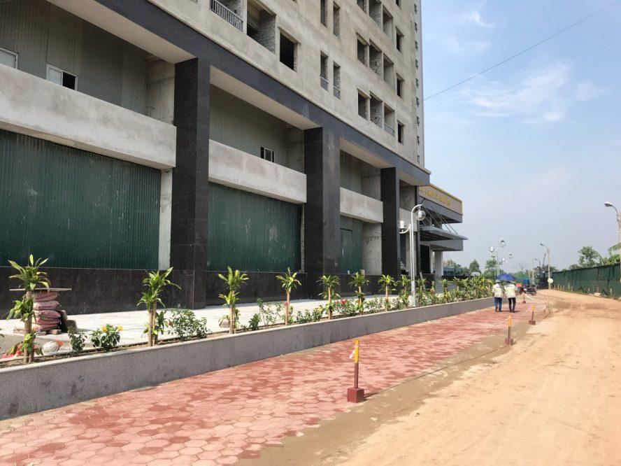 Vỉa hè và đường nội khu tại dự án Osaka Complex Hoàng Mai