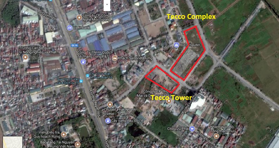 Vị trí dự án Tecco Tứ Hiệp, Thanh Trì