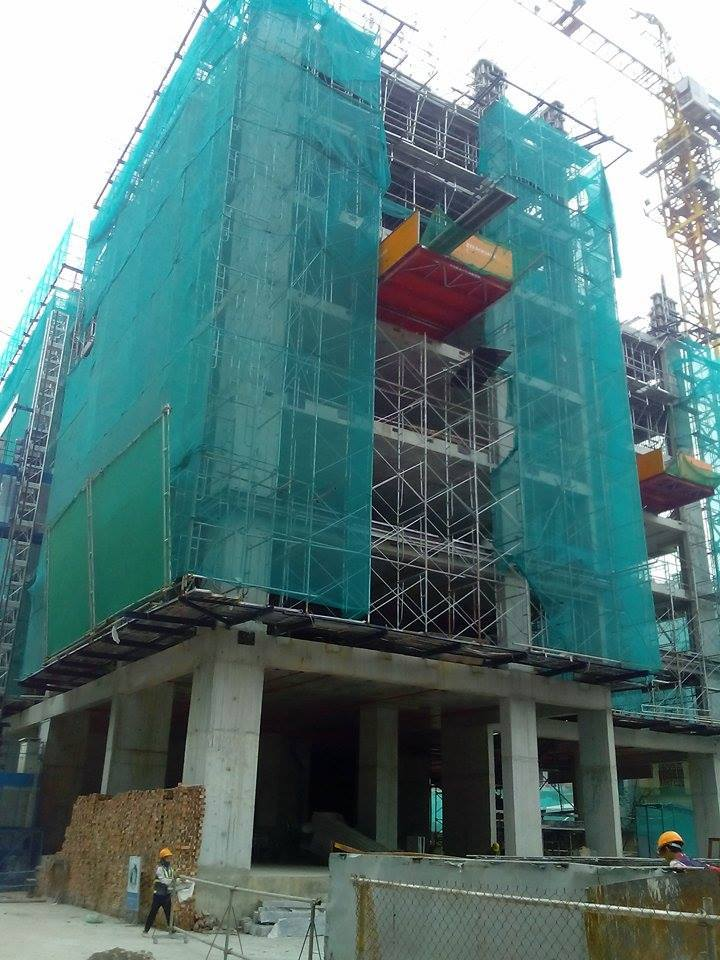 Với lực lượng đông đảo cán bộ công nhân viên, dự án B32 Đại Mỗ đang xây dựng vượt tiến độ đề ra